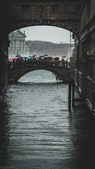 a short story not about The Bridge of Sighs (ignacy50.pl) Tags: water rain rainyday bridge cityscape umbrella tourists crowd canal italy citylife