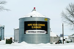 Wyffels Hybrids - Wisconsin (Cragin Spring) Tags: wisconsin wi midwest unitedstates usa unitedstatesofamerica rural snow winter farm combine wyffelshybrids