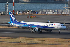 JA138A, Airbus A321Neo, ANA, Tokyo Haneda (ColinParker777) Tags: ja138a airbus a321 321 a321n a321neo a321200 a321272n airplane aircraft airliner aeroplane plane landing thrust reverse runway rollout landed sharlet winglet travel air all nippon airlines airways airline ana nh tokyo haneda hnd rjtt japan canon 7d2 7dmk2 7dmkii 7dii 200400 l lens zoom telephoto