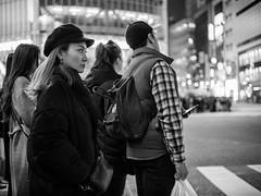 Tokyo (shinyahirata) Tags: bw blackandwhite monochrome tokyo japan woman night