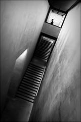out of the box (bostankorkulugu) Tags: square door window fashion light steps stairs architecture man walk guard security dark tilted tilt museum italia italy lombardia lombardy milano milan armanisilos silos armani