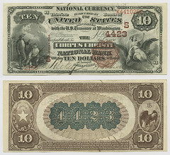 United States $10.00 (ten dollars) national currency (SMU Libraries Digital Collections) Tags: texas money national us united states currency paper banks notes note banknote banknotes chartered bank banking corpus christi corpuschristi nueces nuecescounty