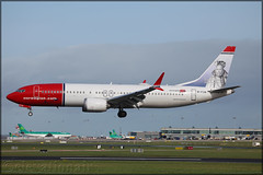 EI-FYH Boeing 737 MAX8 Norwegian Air International (elevationair ✈) Tags: dublin airport dublinairport dub eidw airliners airlines avgeek aviation arrival landing sun sunshine runway 737 max b3m8 boeing boeing737max8 nortrans norwegianairinternational eifyh grounded