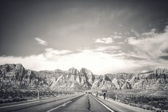 From the Canyon to the Mountains (podolux) Tags: april2019 2019 sony sonya7 a7 sonyilce7 ilce7 redrockcanyon clarkcounty nevada nv blancoynegro blackandwhite bw monochrome duotone road roadtrip