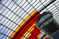 Centraal skylight (Eric Flexyourhead) Tags: amsterdamcentraal amsterdamcentraalstation amsterdam netherlands holland nederland city urban station busstation gvb ebs building structure skylight architecture sonyalphaa7 zeisssonnartfe35mmf28za zeiss 35mmf28
