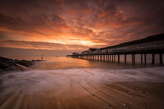 Golden Morning (Tracey Whitefoot) Tags: 2019 tracey whitefoot january southwold suffolk east anglia seascape coast coastal pier dawn sunrise long exposure gold golden sea beach waves