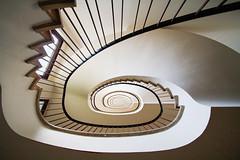 Detjenhaus (Elbmaedchen) Tags: staircase stairs stairwell stufen steps treppenhaus treppenauge treppe upanddownstairs interior architektur architecture 50er spirale spiral helix schnecke curves curvy detjenhaus hamburg