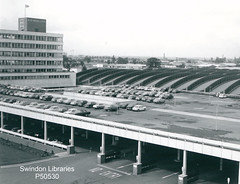 1960s: W.H. Smith & Son at Greenbridge (Local Studies, Swindon Central Library) Tags: michaelpassmore swindon donation wiltshire photograph bw p50530 greenbridge whsmith smith smiths whsmithson carpark