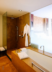 Bathtub and shower enclosure (A. Wee) Tags: lima peru 秘鲁 利马 westin 威斯汀 酒店 hotel bathroom bathtub shower 沐浴室