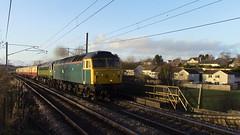 47853 & 47501 on 1Z43 Fort William to Crewe at Carluke 17/2/19 (DRS66421) Tags: class47 carluke locomotiveservicesltd train railway railwayphotography ukrailways