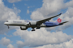 China Airlines Carbon Fibre Livery A350-941 (B-18918) ONT Approach 1 (hsckcwong) Tags: chinaairlines a350941 a3509 a350 b18918 carbonfibrelivery kont ont
