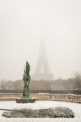 Paris Under the Snow (Alexander JE Bradley) Tags: snow aperturetours paris magical 2470mmf28 d500 nikkor nikon europe france îledefrance 75007 champsdemars eiffeltower toureiffel city architecture buildings tower monument historicalmonument landmark monumenthistorique nationalmonument town urban cityscape noperson street outdoor day winter hiver alexanderjebradley photograph photography travel tourism travelphotography wwwalexanderjebradleycom wwwaperturetourscom parisbanksoftheseine unesco worldheritage heritage bridge 75016 pontdebirhakeim fr