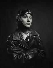 aviator#3 (Waldemar Markiewka) Tags: korona8x10 petzval fomapan aviator leather