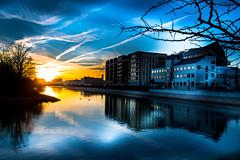 Reflection (Maria Eklind) Tags: framed kcanal building sunset solljus spegling city cityscape hovrätten skåne malmö reflection water solnedgång malmöuniversitet sky hovrättenöverskåneochblekinge himmel highcourt sweden outdoor skånelän sverige se