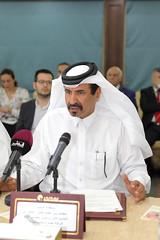 Mohamed bin Ahmed bin Twar - First vice chairman of QC 2 (Qatar Chamber) Tags: qatar oman chamber commerce delegation business