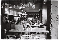 At the coffee shop (adrian.veselu) Tags: olympusxa3 kodaktrix400 rodinal stand development