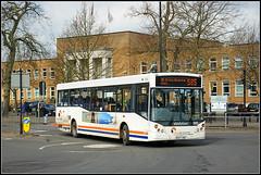 Travel de Courcey 566 (Jason 87030) Tags: man mcv evolution rugby warks warwickshire coventry midlands white blue orange evreuxway mike travel decourcey bus transport