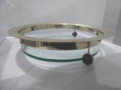 Elmhurst, IL, Elmhurst Art Museum, Bauhaus Exhibit, Bowl (Mary Warren 13.1+ Million Views) Tags: elmhurstil elmhurst art museum sculpture bauhaus metal shadows bowl