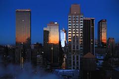 Sunrise reflection (erichudson78) Tags: usa nyc newyorkcity manhattan midtown sunrise leverdesoleil urbanreflection reflection reflets canoneos6d canonef24105mmf4lisusm building sky skyscraper gratteciel ville town ciel bâtiment aube dawn