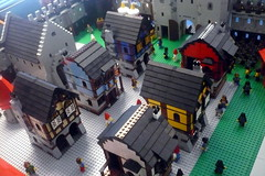 Black Falcons (Ced72) Tags: blackfalcons black falcons castle fortress layout battle town lion knights seneffe 2017 lego old army