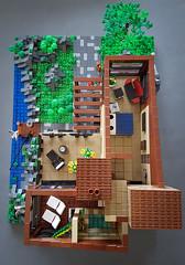 Scandinavian Sea House MOC. First floor house plan. (betweenbrickwalls) Tags: lego afol moc houseplan interior layout living architecture