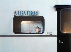 Caravan (rob kraay) Tags: coffeepot window abandonedcaravan doorhandle lettering eveningsun robkraay