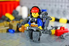Mark - The Welder (Devid VII) Tags: devid vii moc lego suit mecha mech minifigs military minifigures minifigure minifig mark welder diorama devidvii details weld