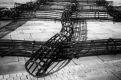 The Blanket by David Murphy (Richie Rue) Tags: blanket davidmurphy weave woven art sculpture halifax yorkshire monochrome blackandwhite bnw film analogue 35mm ishootfilm istillshootfilm filmsnotdead piecehall