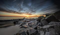 Sunrise Herring Point Rocks (stevebfotos) Tags: batteryherring ftmiles capehenlopen lewes delaware sunrise water atlantic