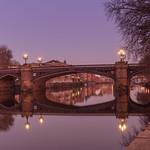 Ornate bridge in the dawn light. thumbnail