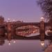 Ornate bridge in the dawn light.