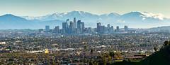 Clear Morning Los Angeles (vandusenerik) Tags: dtla snow morning sunrise los angeles kenneth hahn nikon d800 20005000 mm socal southern california san gabriel baldy skyline skyscape landscape clouds mist