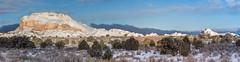 Snowy White Pocket -- HFF! (Squirrel Girl cbk) Tags: 2019 arizona february whitepocket morning panorama snow fence hff