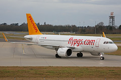 TC-NBV Airbus A320-251N Pegasus Airlines Stansted 12th January 2019 (michael_hibbins) Tags: tcnbv airbus a320251n pegasus airlines stansted 12th january 2019 aircraft airliner airline passanger passenger commercial civil neo aeroplane aerospace aviation aero airfields airport airplane airports plane planes jet jets