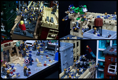 Avengers: The Battle of New York (Ben Cossy) Tags: lego moc afol tfol avengers 2012 iron man hulk loki thor chitauri battle new york city captain america marvel mcu comic comicbook
