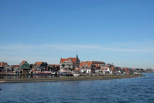 Ferry approaching Volendam, Netherlands (3)