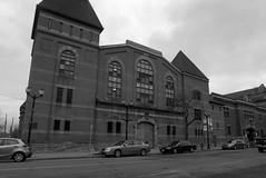 Project:1867 - John Weir Foote V.C. Armoury (Alex Luyckx) Tags: hamilton ontario canada downtown urban city historicdowntown johnwfootevcarmoury johnwierfootevc johnwfoote armoury canadianarmy canadianforces royalhamiltonlightinfantry northdrillhall departmentofnationaldefense project1867 canadianhistory history militaryhistory politicalhistory mamiya mamiyam645 slr 120 mediumformat 6x45 645 mamiyasekorc35mm135n harmantechnologies ilfordphoto ilford ilfordfp4 fp4 asa100 kodak kodakd23 d23 stock 10 pentaxspotmeterv epsonv700 adobephotoshopcc bw blackwhite film filmphotography believeinfilm filmisalive filmisnotdead