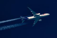 FedEx Boeing 777-FS2 N896FD (Thames Air) Tags: fedex boeing 777fs2 n896fd contrails contrailspotting