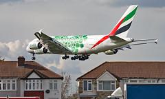A6-EEZ - Airbus A380-861 - LHR (Seán Noel O'Connell) Tags: emirates a6eez airbus a380861 a380 a388 expo2020 heathrowairport heathrow lhr egll dxb omdb 27l ek32 uae32 aviation avgeek aviationphotography planespotting