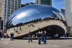 (jfre81) Tags: chicago cloud gate sculpture metal reflection city urban millennium park public art people james fremont photography jfre81 canon rebel xs eos bean