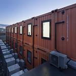 震災復興土木建設作業員用モデュールホテルの写真