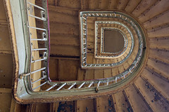 The old one (Elbmaedchen) Tags: staircase stairwell stairs stufen rost interior roundandround treppenhaus treppe abandoned escaliers escaleras