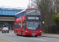 SLN 13021 - BG14ONR - WESTHORNE AVENUE ELTHAM - SAT 5TH JAN 2019 (Bexleybus) Tags: stagecoach selkent wrightbus gemini 2 volvo tfl route 122 westhorne avenue south circular eltham a2 a205 13021 bg14onr