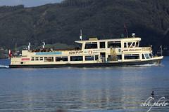 Cruising ship at the Salzkammergut - Gustav Klimt (chk.photo) Tags: outdoor austria landscape see water lake ship schiff