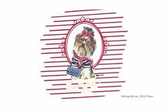 Großes Bügelbild SWEET DOG, Print Patch zum aufbügeln (patchmonkeys) Tags: patch bügelbild comic roll style stil cool young applikation fashion aufbügler pimp street urban symbol livestyle spas streetwear print druck design zopf hund transfer yorkshire terrier brille