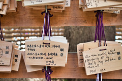 Ema at Meiji Shrine