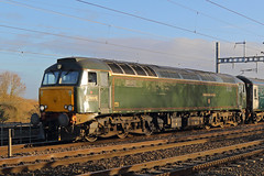 Ronnie at Reading (Treflyn) Tags: great western railway class 576 ronnie 57 57604 pendennis castle old gwr lined green livery reading empty stock ecs previous night penzance london paddington sleeper service