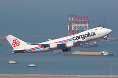 LX-VCV, Boeing 747-400F, Cargolux, Hong Kong (ColinParker777) Tags: cargolux cv boeing 747 744 744f 747f 747400f cargo freight freighter jumbo jet plane airplane aeroplane aircraft aviation air flying flight fly takeoff departure ascent ascend barge boats ship crane cranes cloudy sharp clear rr rolls royce rb211 power engines canon 7d 7d2 7dmk2 7dmkii 7dii 200400 zoom l lens telephoto hong kong hkg vhhh chek lap kok airport lxvcv 34235 1366