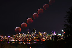 Super Blood Wolf Moon Total Lunar Eclipse (Emma Paddle) Tags: super blood wolf moon total lunar eclipse supermoon wolfmoon full fullmoon totaleclipse lunareclipse vancouver britishcolumbia canada city cityscape night nightphotography photography cold winter january 2019 red redmoon