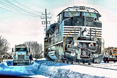 Gas n Go at (NS) Rockport Yard. (THE RESTLESS RAILFAN) Tags: